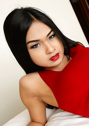 Cumshot free pictures with Asian ladyboys